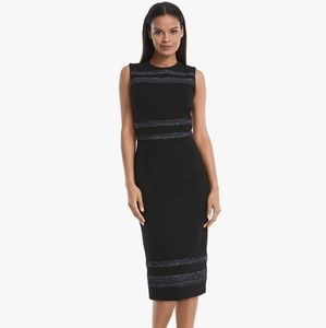 WHBM Body perfection tweed_inset sheath dress